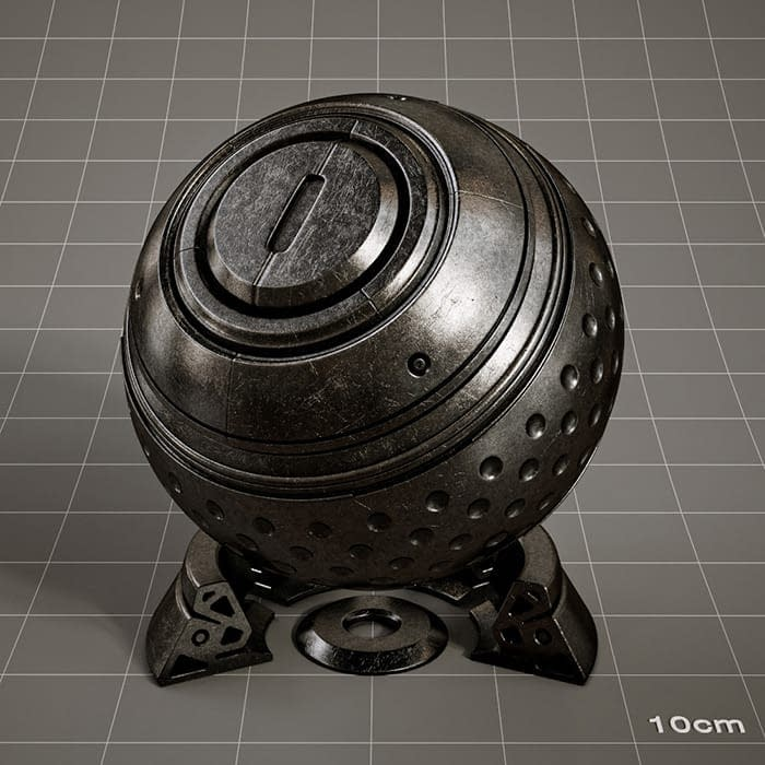 Redshift-material-library-c4d-material-4K-PBR-textures-Silver-antique-black
