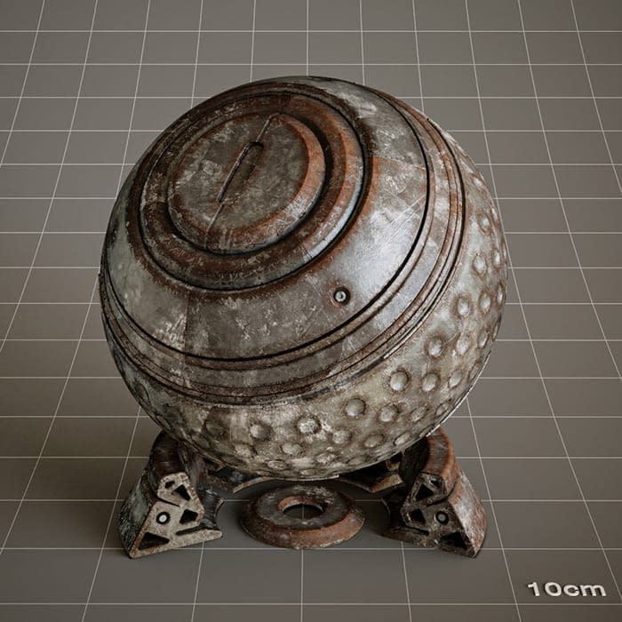 Redshift-material-library-c4d-material-4K-PBR-textures-Old-Tin-02