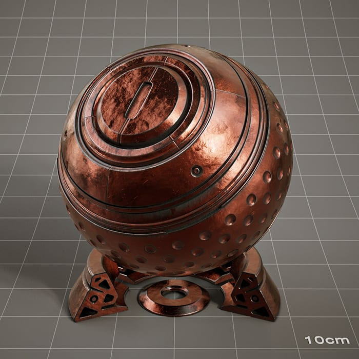 Redshift-material-library-c4d-material-4K-PBR-textures-Metal-material-3