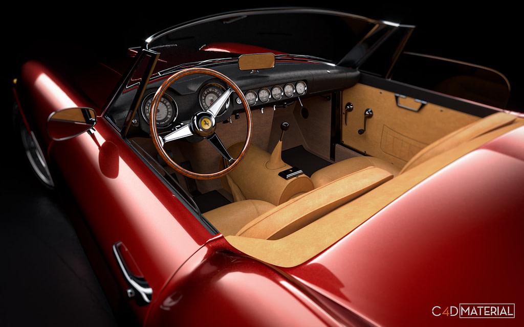 FERRARI-250-GT-california-1958-Automotive-corona-car-material-pack-c4d-4