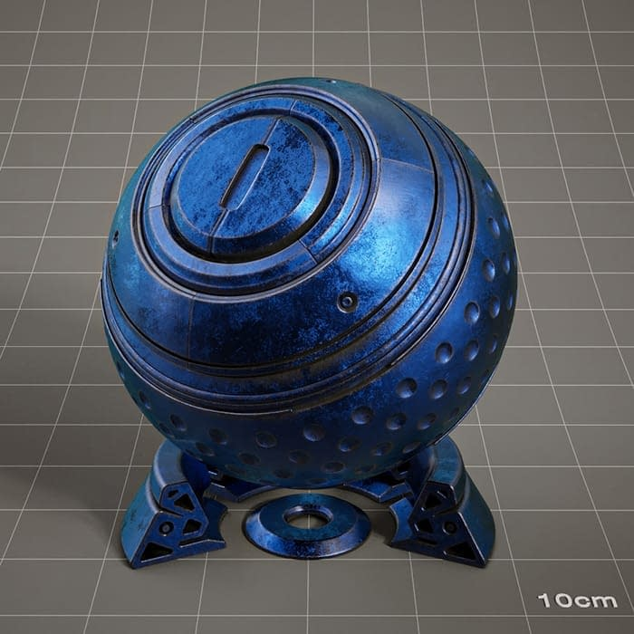 Redshift-material-library-c4d-material-4K-PBR-textures-Metal-blue-aged